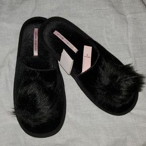 Victoria Secret slide slippers pom pom